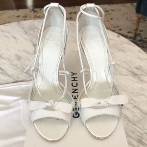 Givenchy leather white ankle wrap sandal